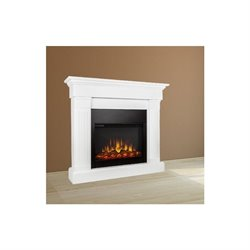 Trent Home Chase Mounted Electric Fireplace in Pure White