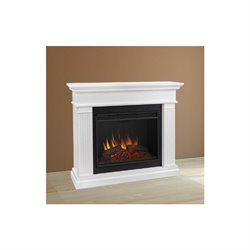 Trent Home Cinder Electric Fireplace in White