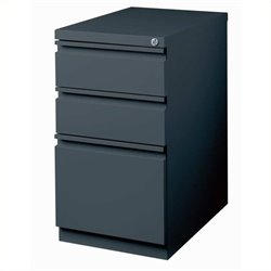 Trent Home Cobalt 3 Drawer Mobile File Cabinet in Charcoal