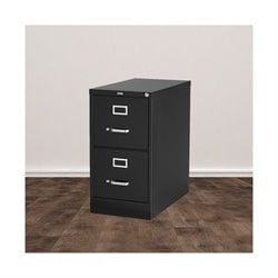 Trent Home Cornerstone 2 Drawer Letter File Cabinet in Black
