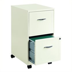 Trent Home Lineal 2 Drawer Steel File Cabinet in White