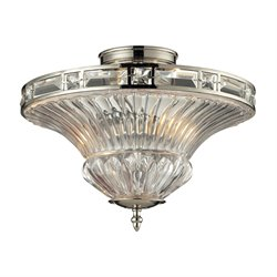 Elk Lighting Aubree 2 Light Semi Flush Mount in Polished Nickel