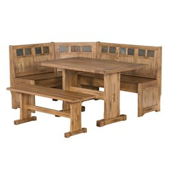 Sunny Designs Sedona Breakfast Nook Set in Rustic Oak