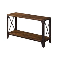 Sunny Designs Crosswind Console Table in Weathered Mocha