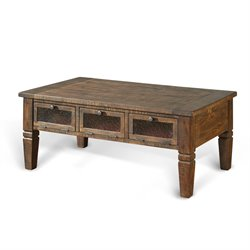Sunny Designs Homestead Storage Coffee Table in Tobacco Leaf