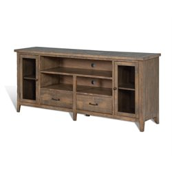 Puebla TV Stand with Storage in Driftwood