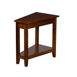 Sunny Designs Route 66 End Table in Brown Cherry