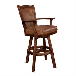 Santa Fe Swivel Bar Stool in Dark Chocolate