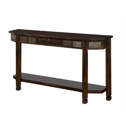 Sunny Designs Santa Fe Hall Console in Dark Chocolate