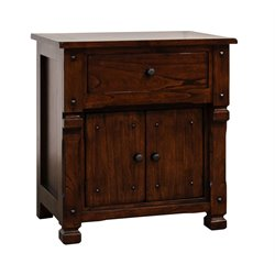 Sunny Designs Santa Fe Nightstand in Dark Chocolate