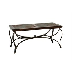 Sunny Designs Santa Fe Slate Coffee Table in Dark Chocolate