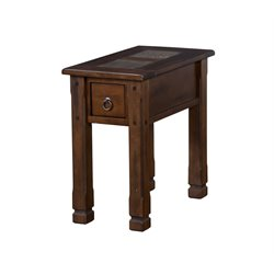 Sunny Designs Santa Fe End Table in Dark Chocolate