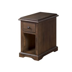 Sunny Designs Savannah End Table in Antique Charcoal