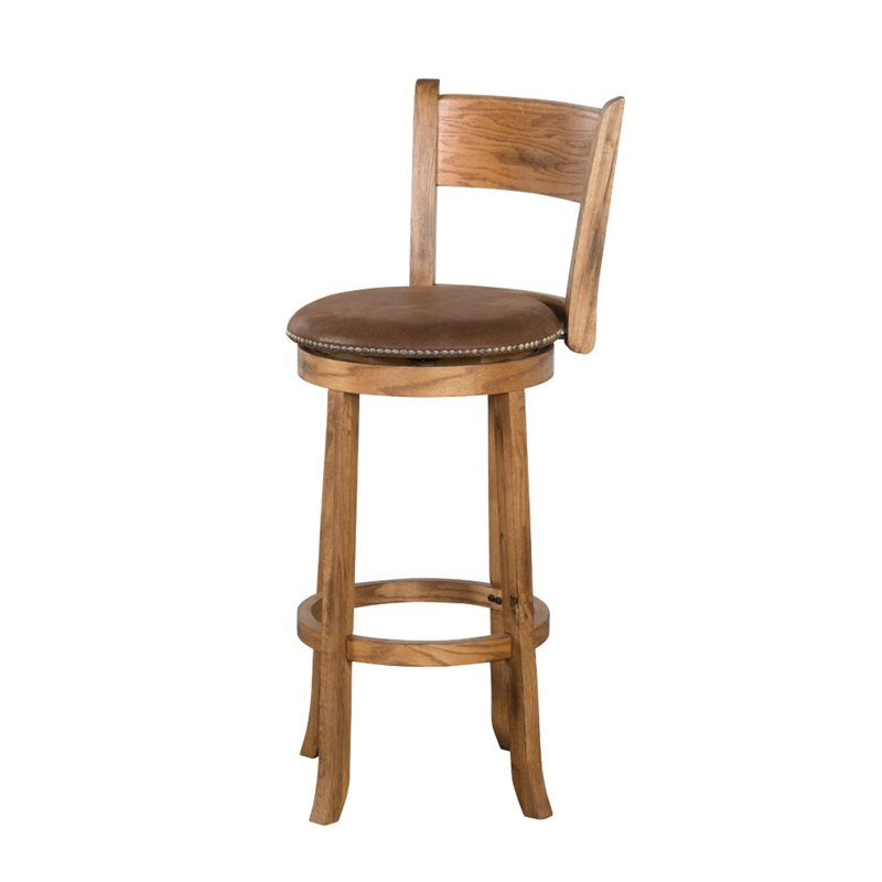 Sunny Designs Sedona 24 Quot Swivel Counter Stool In Rustic