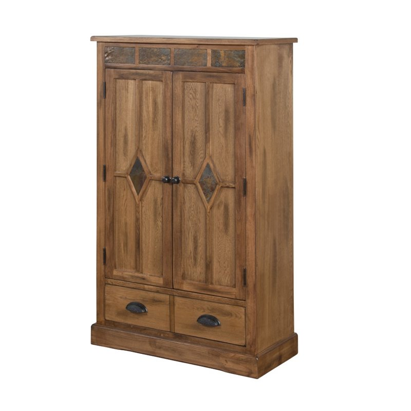 Sunny Designs Sedona 3 Shelf Pantry In Rustic Oak 2212ro
