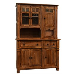 Sunny Designs Sedona Buffet with Hutch in Rustic Oak
