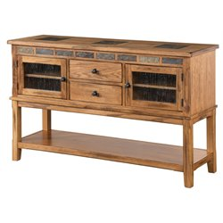 Sunny Designs Sedona 2 Drawer Sideboard in Rustic Oak
