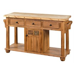 Sunny Designs Sedona Kitchen Island in Rustic Oak