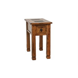 Sunny Designs Sedona End Table in Rustic Oak