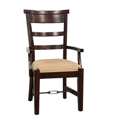 Sunny Designs Vineyard Dining Arm Chair in Rustic Mahogany