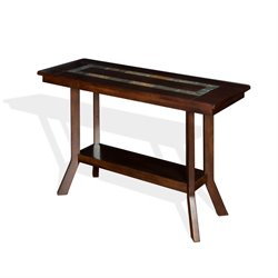 Sunny Designs Console Table in Dark Hazelnut