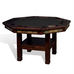 Sunny Designs Santa Fe Game Table in Dark Chocolate