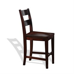 Vineyard Ladderback Bar Stool in Rustic Mahogany
