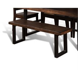 Sunny Designs Dining Bench in Weathered Pine
