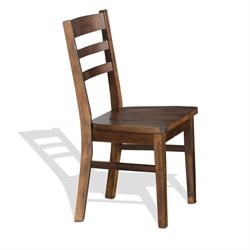 Sunny Designs Santa Fe Ladder Back Wood Dining Chair in Dark Chocolate
