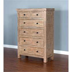 Sunny Designs Durango 5 Drawer Chest in Weathered Brown