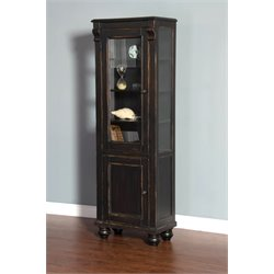 Sunny Designs Curio Cabinet in Black