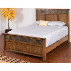 Belgrade Panel Bed in Burnish Mocha
