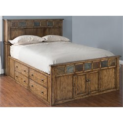 Belgrade Storage Panel Bed in Burnish Mocha