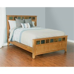 Sunny Designs Sedona King Panel Bed in Rustic Oak
