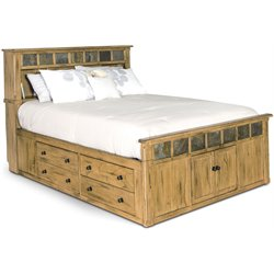 Sedona Storage Panel Bed in Rustic Oak