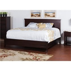 Sunny Designs Napa California King Panel Bed in Mahogany
