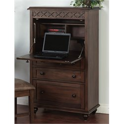 Sunny Designs Savannah Computer Desk in Antique Charcoal