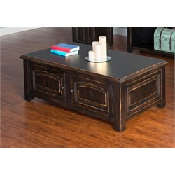 Sunny Designs Java Treasures Coffee Table in Black Vintage
