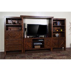 Sunny Designs Ranch House Entertainment Center in Antique Bronze