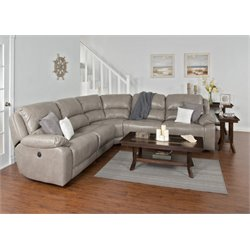 Sunny Designs Idaho Power Reclining Sectional in Taupe