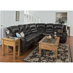 Sunny Designs Wyoming Reclining Sectional in Mocha