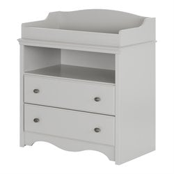 South Shore Angel 2 Drawer Changing Table in Soft Gray