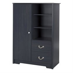 South Shore Aviron 2 Drawer Armoire in Blueberry