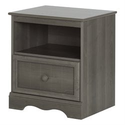 South Shore Savannah Nightstand in Gray Maple