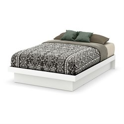 Basic Platform Bed in Pure White