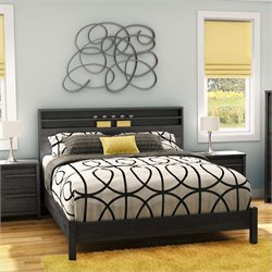 South Shore Tao Queen Platform Bed in Gray Oak