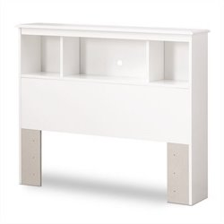 South Shore Crystal Collection Twin Bookcase Headboard in White