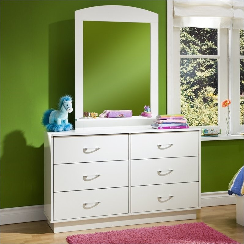South Shore Logik Pure White Double Dresser