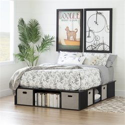 Flexible Platform Bed in Black Oak