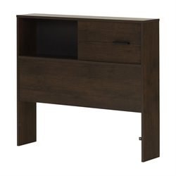 South Shore Fynn Twin Bookcase Headboard in Brown Oak